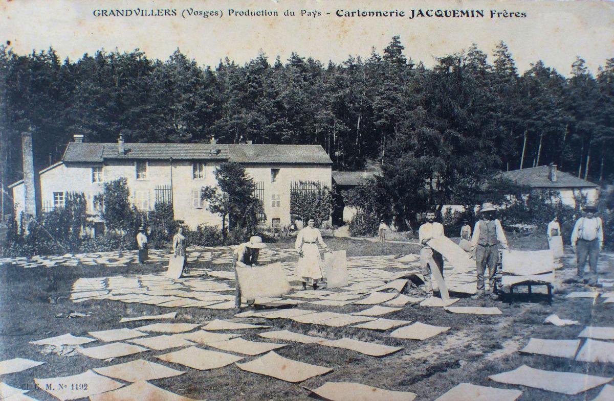 Grandvillers cartonnerie jacquemin cpa